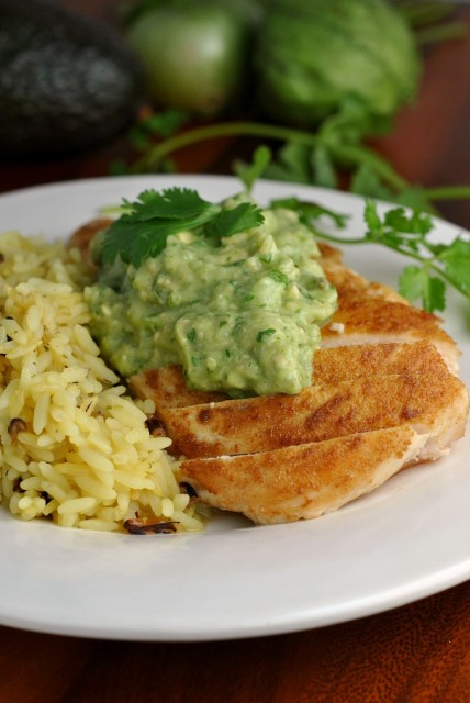 Cumin-Rubbed Chicken with Guacamole Sauce 4