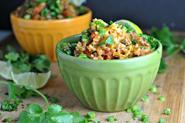 One Pot Spicy Taco Rice Skillet 3
