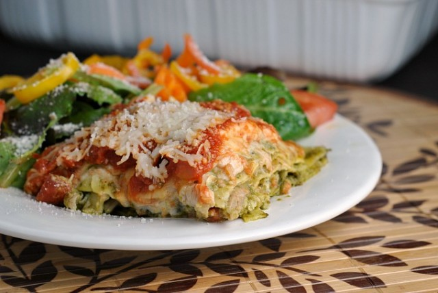Pesto Chicken Lasagna 4