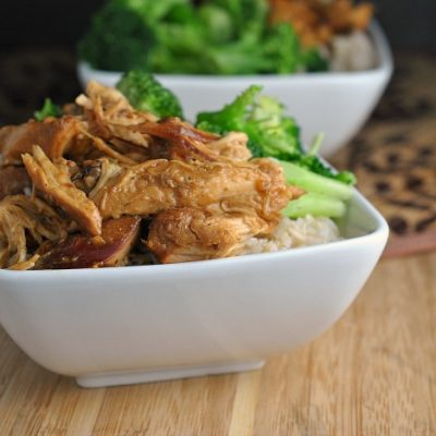 Slow Cooker Teriyaki Chicken + Weekly Menu
