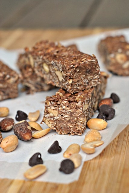 Chocolate Oat No-Bake Bars 1