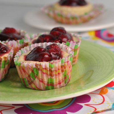 Mini Cherry Cheesecakes + Weekly Menu