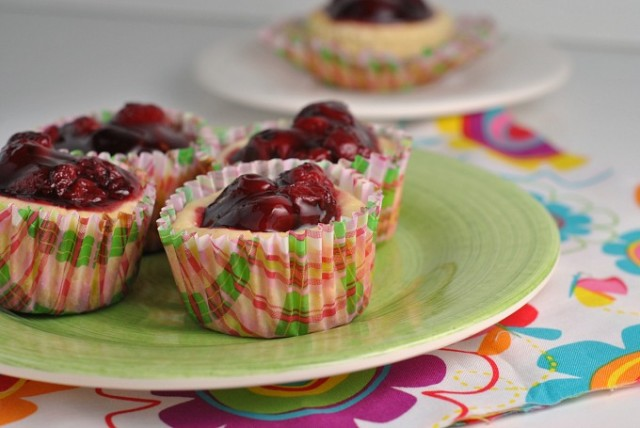 Mini Cherry Cheesecakes 2