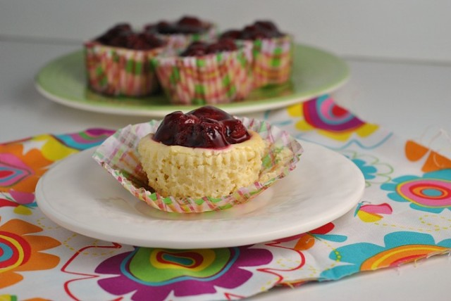 Mini Cherry Cheesecakes 3