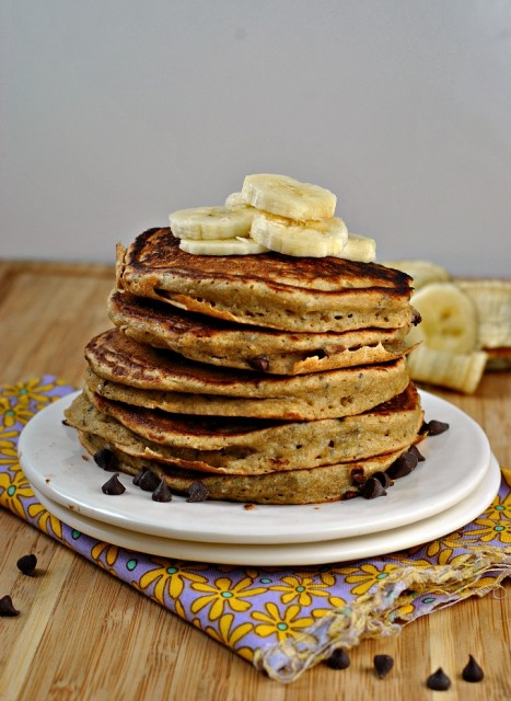 Ricotta Chocolate Chip Pancakes 1