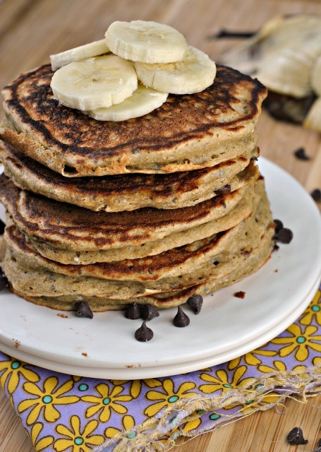 Ricotta Chocolate Chip Pancakes 4