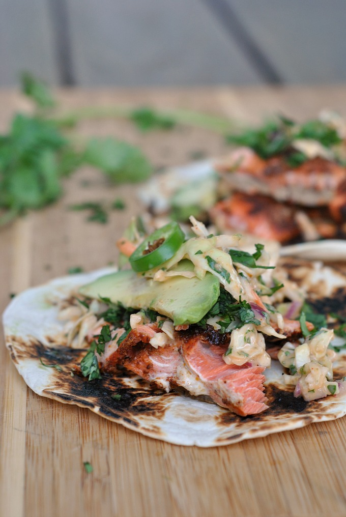Salmon Tacos With Cilantro Lime Slaw Weekly Menu