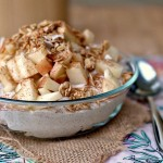 Cinnamon Yogurt with Apples and Granola landscape