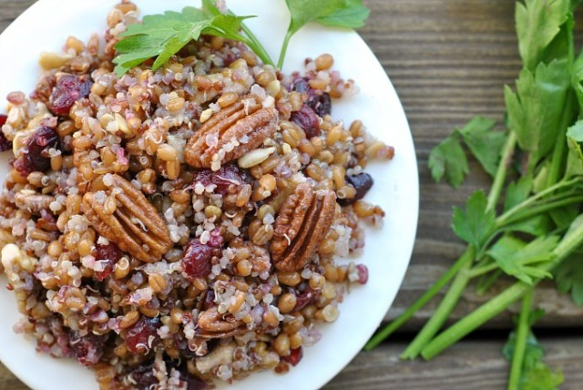 Quinoa Wheat Berry Salad 2