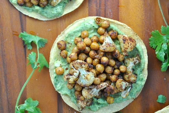 Roasted Vegetable and Chickpea Tostada 2