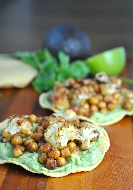Roasted Vegetable and Chickpea Tostada 3