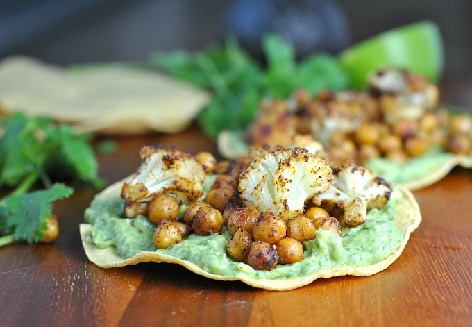 Roasted Vegetable and Chickpea Tostadas + Weekly Menu