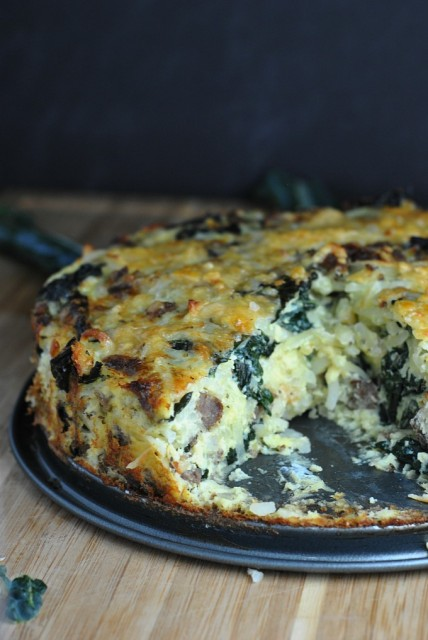 Sausage Kale Potato Pie 1