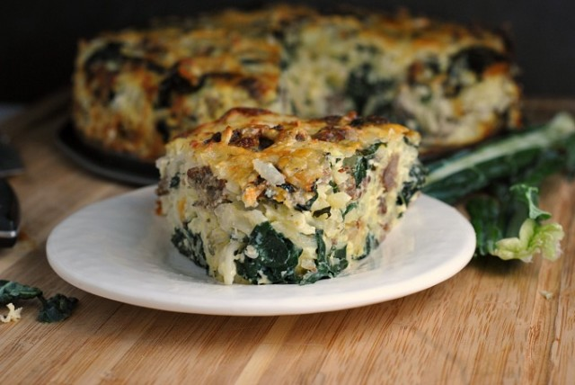 Sausage Kale Potato Pie 3