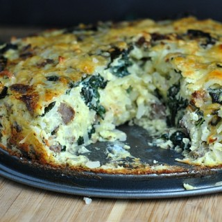 Sausage Kale Potato Pie 4