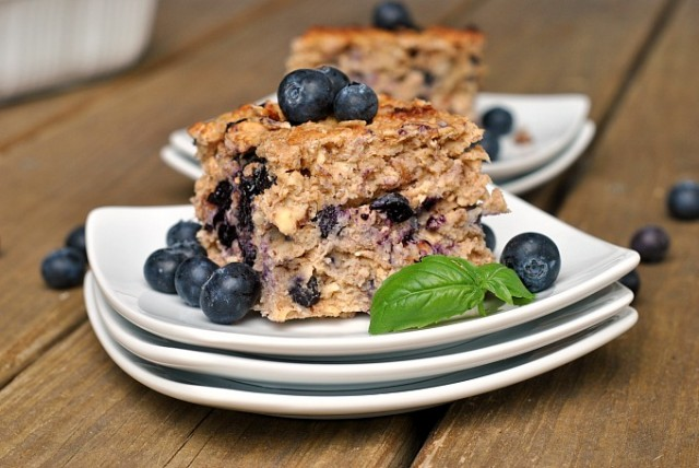 Baked Blueberry Walnut Oatmeal 3