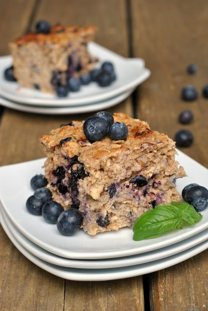 Baked Blueberry Walnut Oatmeal 4