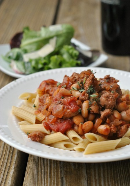 Sausage, Cannellini, and Tomato Ragout 1