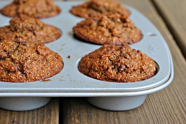 Banana-Bran Chocolate Chip Muffins 2