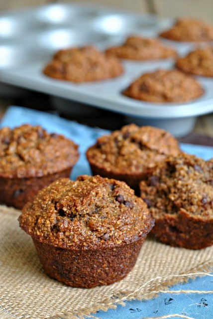 Banana-Bran Chocolate Chip Muffins 4