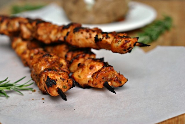 Garlic-Mustard Glazed Chicken Skewers 2