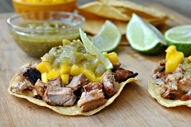 Tangy Pork and Mango Tostada 3