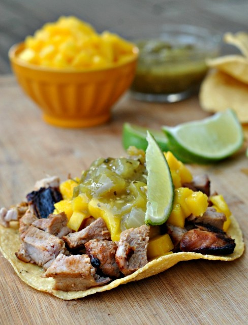 Tangy Pork and Mango Tostada 4