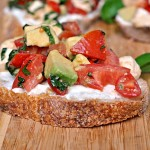 Tomato and Mozzarella Salad over Ricotta Toast 2
