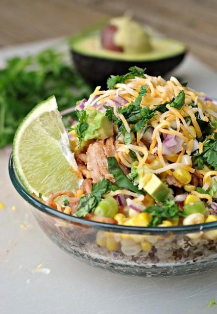 BBQ Chicken Quinoa Bowls 1