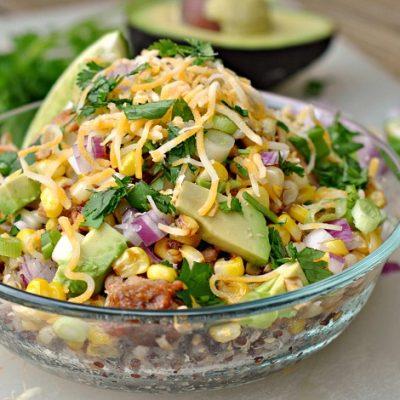 BBQ Chicken Quinoa Bowls + Weekly Menu