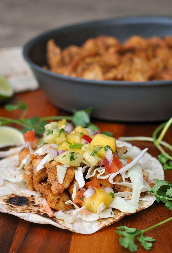 Caribbean Chicken Tacos 1