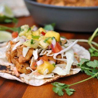 Caribbean Chicken Tacos + Weekly Menu