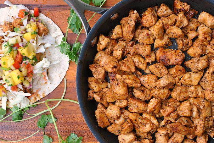 Caribbean Chicken Tacos 3