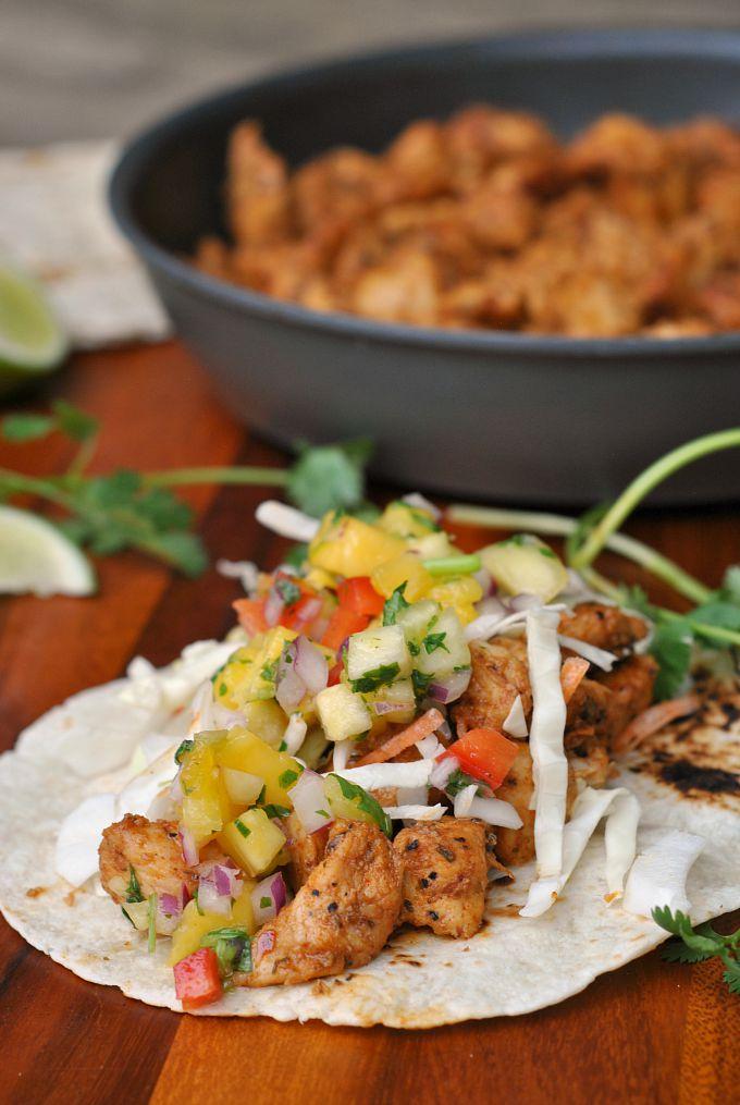 Caribbean Chicken Tacos 4