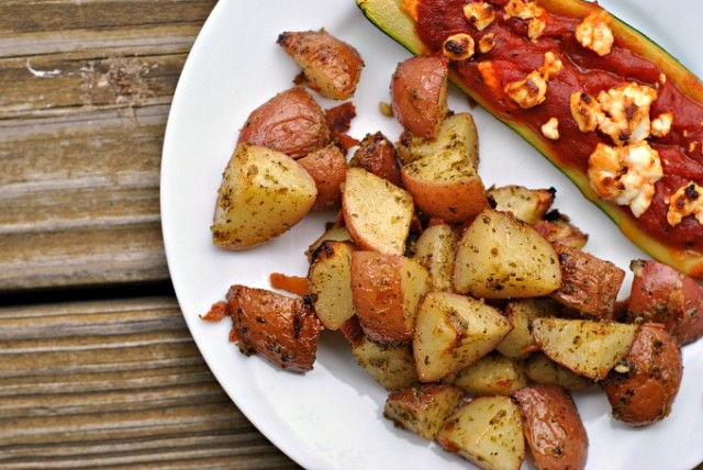 Roasted Pesto Bacon Potatoes 2