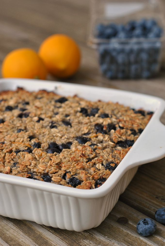Blueberry-Lemon Baked Oatmeal 1