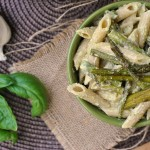 Penne with Garlic and Asparagus Cream Sauce 3