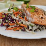 Sesame Cabbage Salad with Grilled Salmon 4