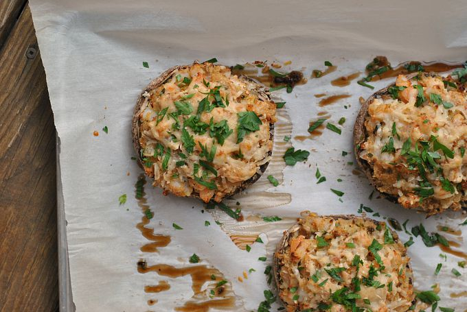 Shrimp-Stuffed Portabello Mushrooms 2