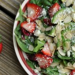 Summer Salad with Strawberry Dressing 2