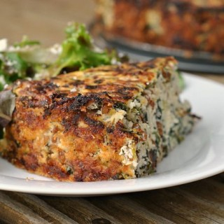 Two-Cheese Spinach and Wheat Berry Pie + Weekly Menu