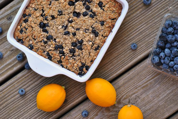 Blueberry-Lemon Baked Oatmeal 3