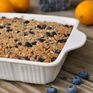 Blueberry-Lemon Baked Oatmeal
