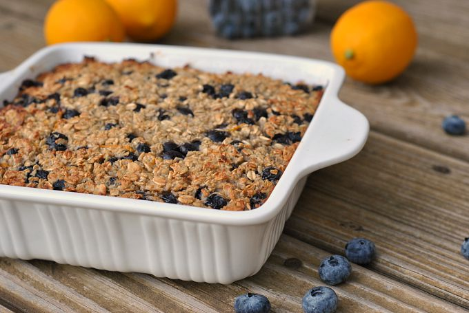 Blueberry-Lemon Baked Oatmeal 4