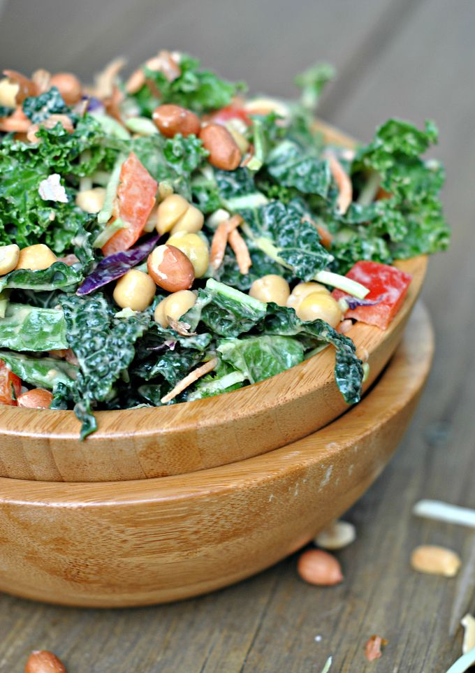 Kale Salad with Peanut Dijon Dressing 1