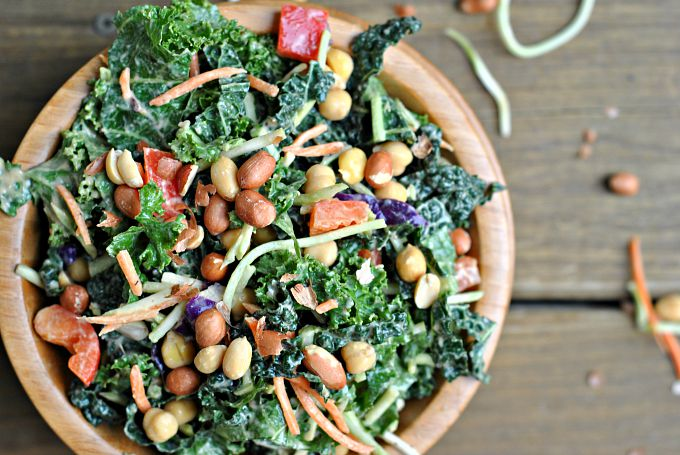 Kale Salad with Peanut Dijon Dressing 3
