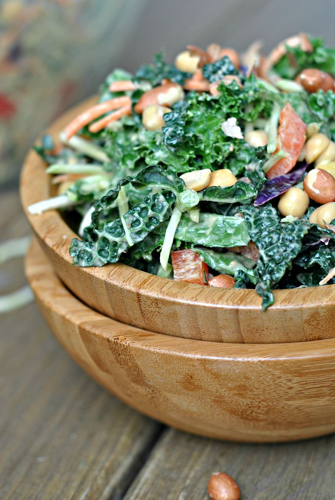Kale Salad with Peanut Dijon Dressing 4