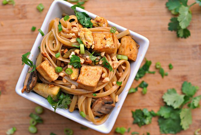Spicy Thai Noodles with Tofu 2