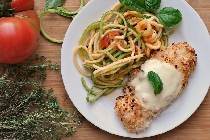 Chicken Parmesan over Zucchini Noodles 2