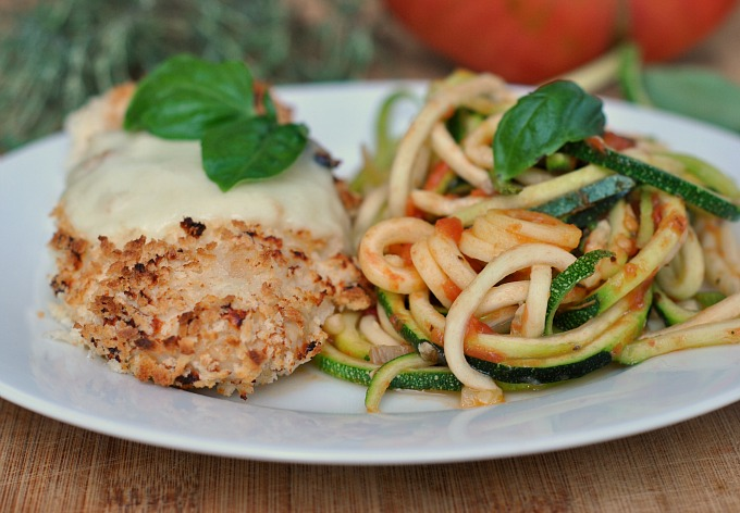 Chicken Parmesan over Zucchini Noodles 3